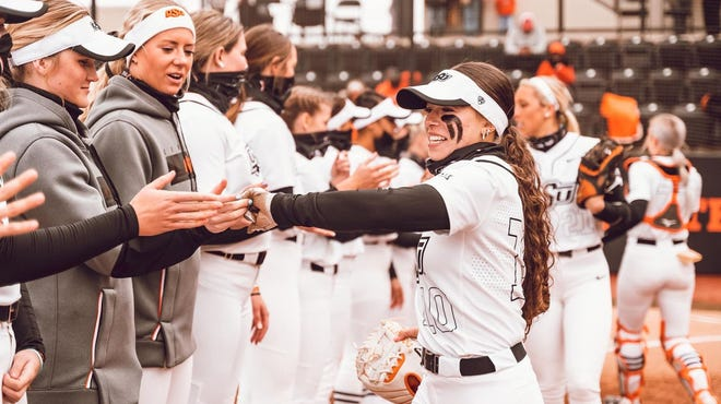 The Oklahoma State softball team heads to Texas Tech for a three-game series beginning Friday.