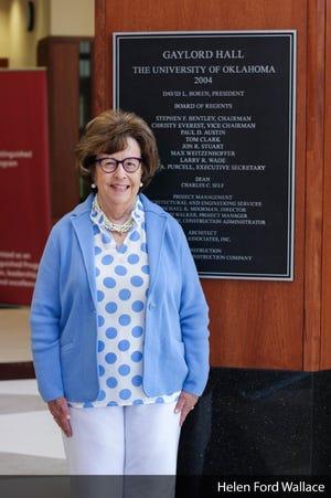 Helen Ford Wallace at Gaylord Hall at the University of Oklahoma.
