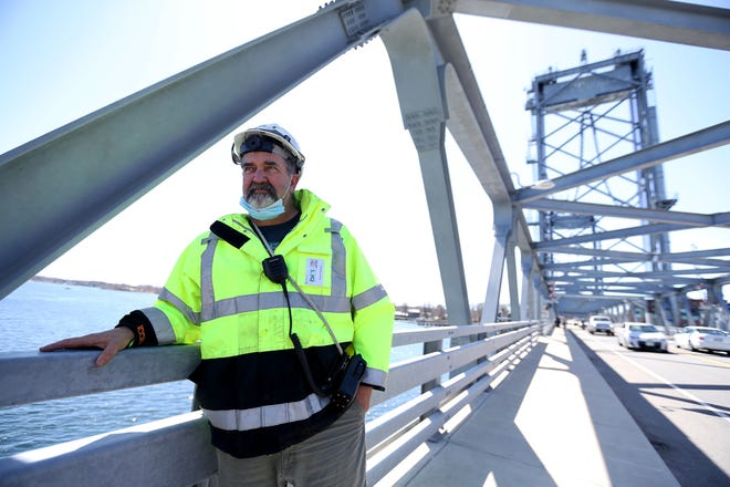 Memorial Bridge operator Bram Hepburn pulled an intoxicated man from the Piscataqua River on Sunday, just before midnight.
