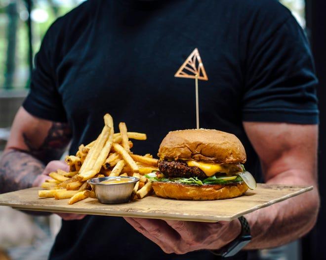 Meet the Planta Burger, a specialty at Planta, the vegan restaurant at Rosemary Square.
