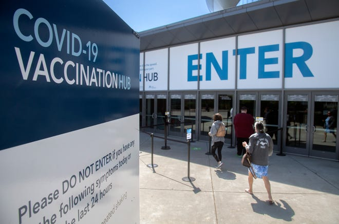 The Stockton Arena, at 248 W. Fremont St. in downtown Stockton, is now a mass COVID-19 vaccination hub.