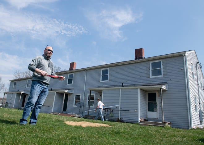 Hope Town recovery housing will open in late May in Windham. Ted St. John, executive director of Hope Town Inc., stands outside of the housing unit being remodeled that will be home to the Hope Town residents.