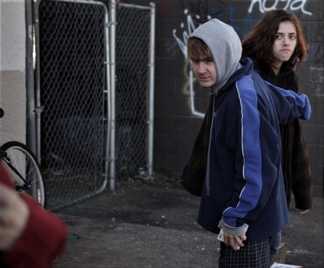 """Miles Dixon, left, and Liv Tavernier in appear in Jarrett Bryant's film """"Maxie,"""" which was filmed on the streets of Eugene. The award-winning film is currently streaming as part of the Ellensburg (Washington) Film Festival."""