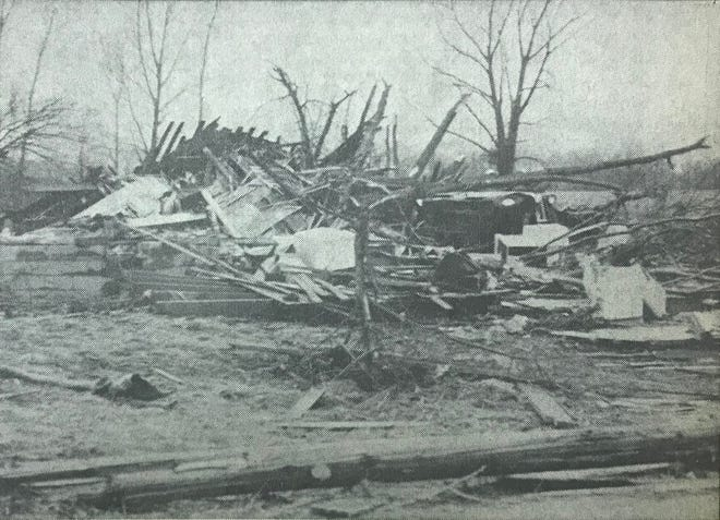 Hallie and Mary Schindler of Ontario, Ind., died from injuries sustained in the 1965 Palm Sunday tornado. Mary died during the tornado. Hallie died the following day.