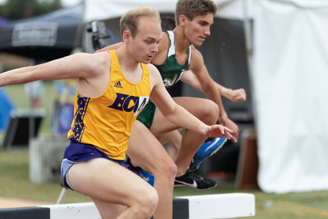 East Carolina's Matthew Russell competes in the steeplechase during the 2019 Bill Carson Invitational in Greenville.