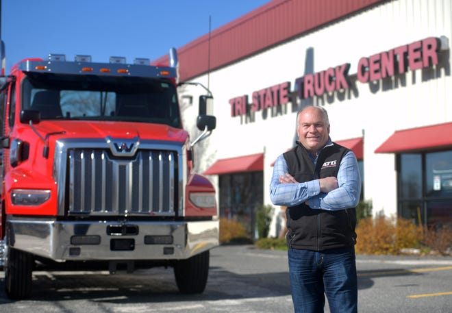 Kevin Holmes is the owner of Advantage Trucking in Shrewsbury, one company that UniBank has helped through the pandemic.
