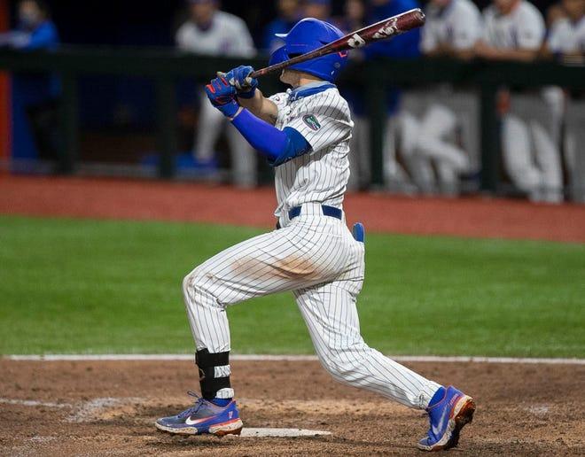 Florida's Jud Fabian hit a home run Wednesday against Florida A&M at Florida Ballpark. [File]