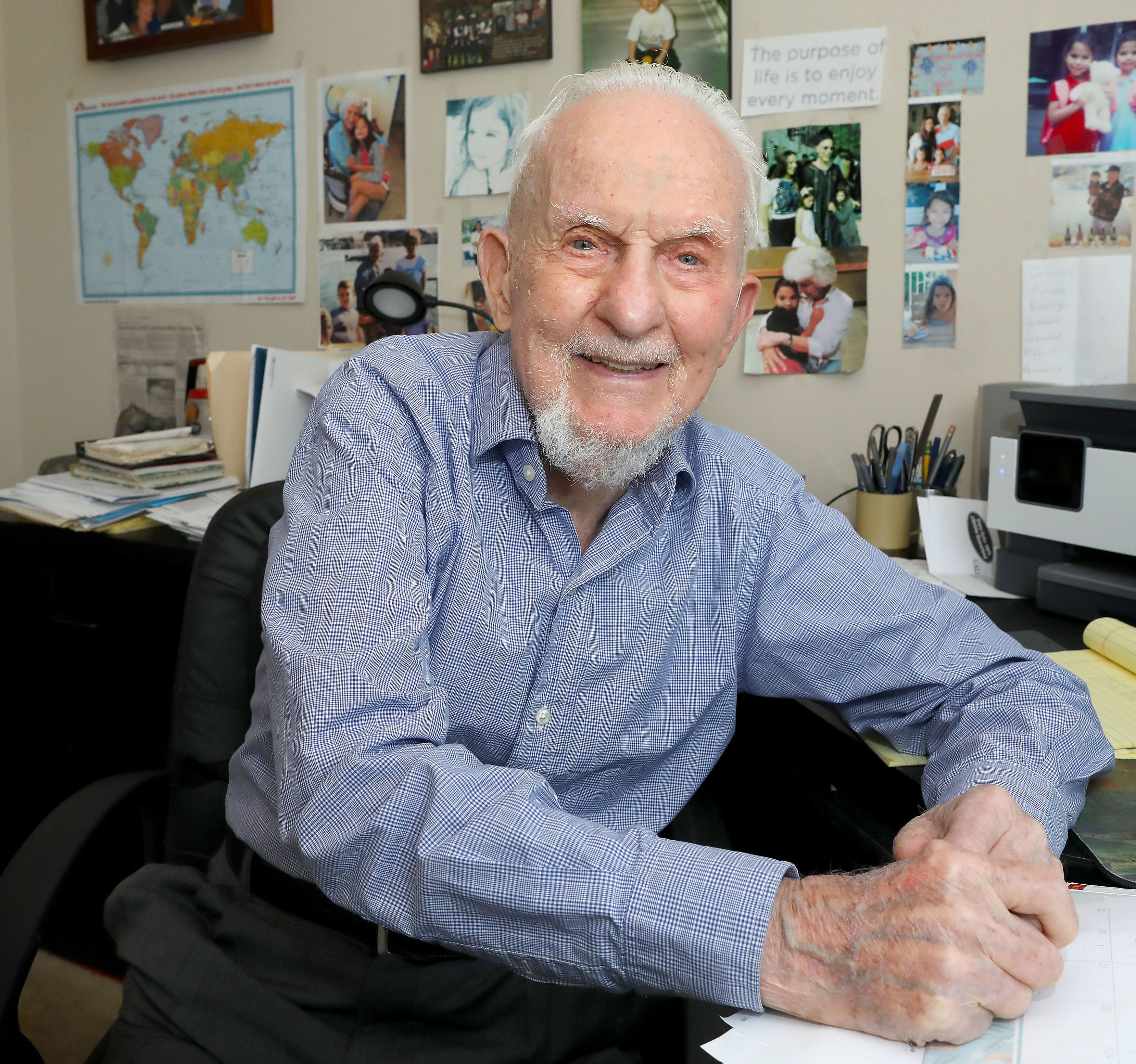 Gainesville s Laurence Jaffe, 98, is producing his first movie, about miracles. He says he lived through his own.