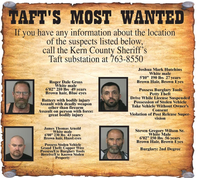 Taft's Most Wanted.