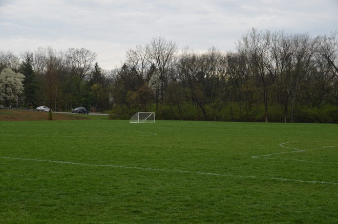 Worthington Parks and Recreation is in the early stages of planning a mountain bike trail in this section of woods south of the soccer fields and west of West Wilson Bridge Road in the Olentangy Parklands.