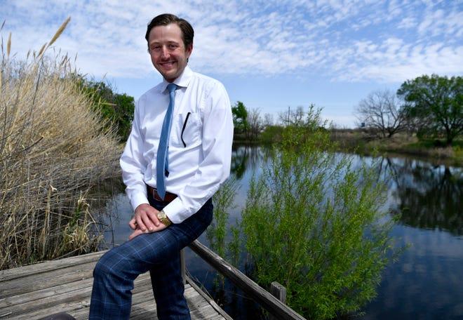 Developer Alex Moore at a south Abilene property near FM 707 and U.S. 83/84 on Thursday.