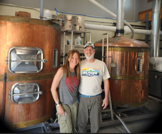 Big Pillow Brewing owners Amy Rubin and Chris Donchod had their soft opening on Christmas Day 2020.