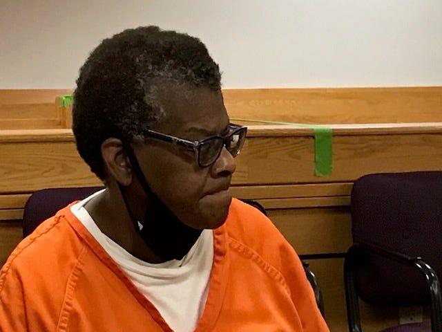 Rose Derrick listens to testimony Thursday.
