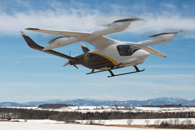 UPS has committed to buying 10 of Burlington-based Beta Technologies' electric aircraft, with the option to buy 150 more.