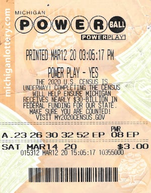 Anil Philip of Wayne County purchased a Powerball ticket for the March 14, 2020, drawing that matched four of the five white balls and the Powerball — 09-23-26-30-32 PB: 08.