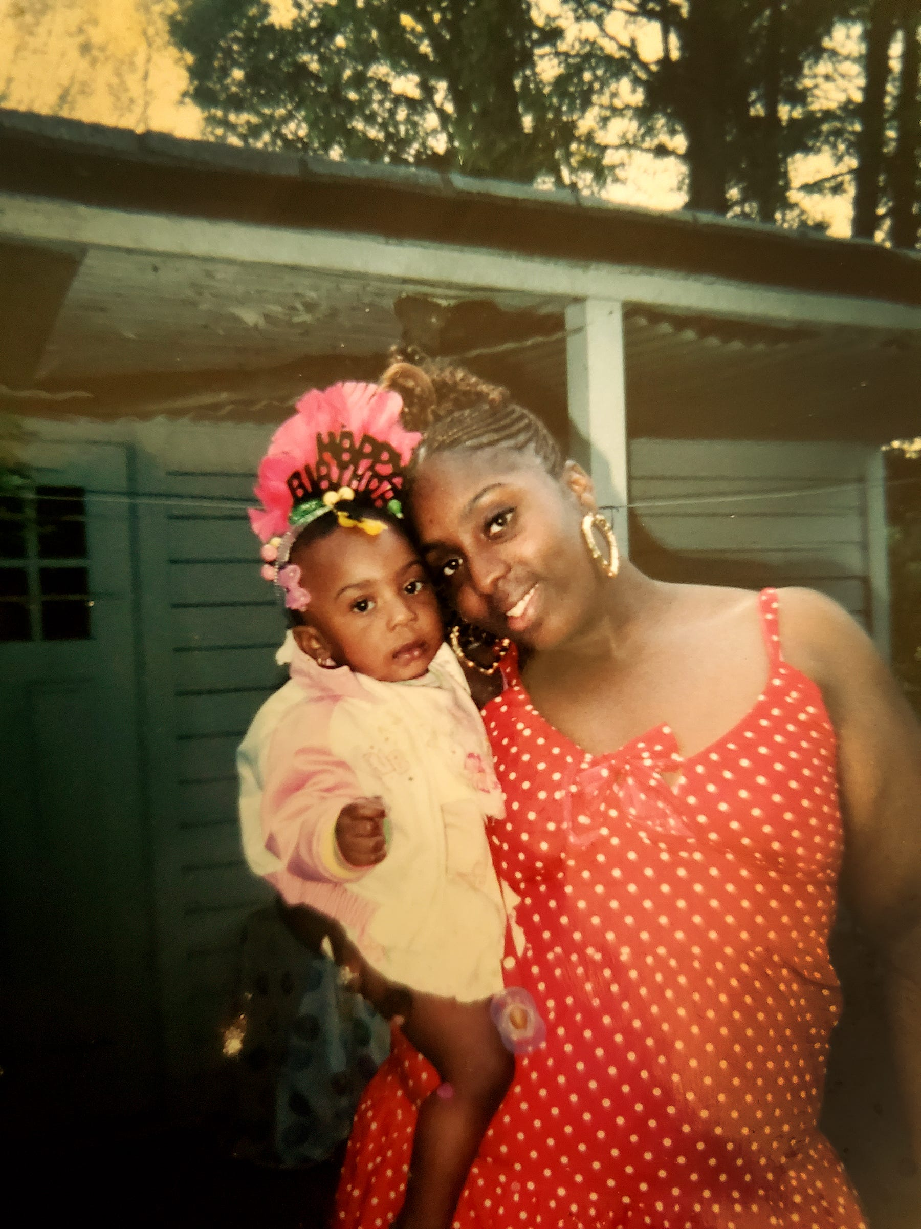 Tyra Moore, pictured with her daughter Samari Malone at her first birthday party in 2008.