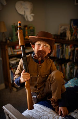Elliott Becker, 7, of Evansville is a big fan of Theodore Roosevelt and dressed as the 26th President of the United States for a recent presidents party at his home. The youngster can recite all of the presidents from George Washington to Joe Biden as well as offer interesting bits of trivia about each of them.