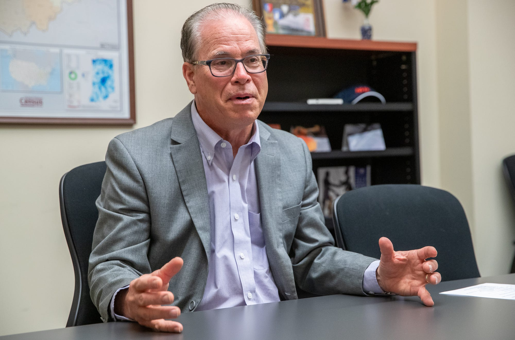 Sen. Mike Braun speaks on bill to limit emergency power of Indiana Gov. Eric Holcomb