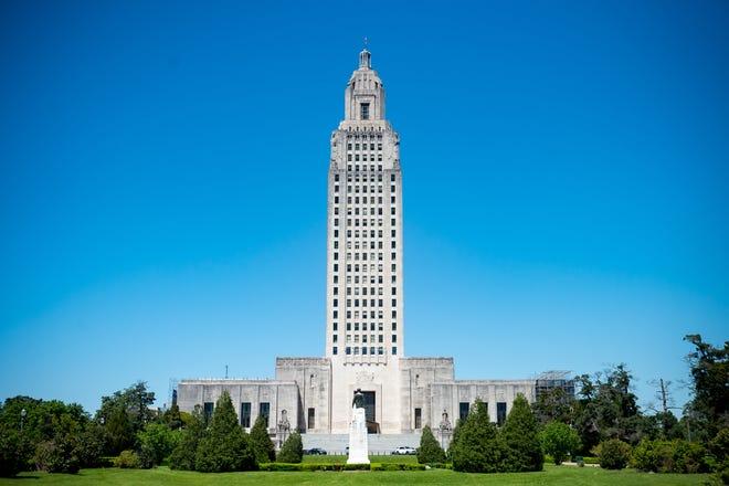 The Louisiana State Capitol in Baton Rouge, LA.  Thursday, April 8, 2021.