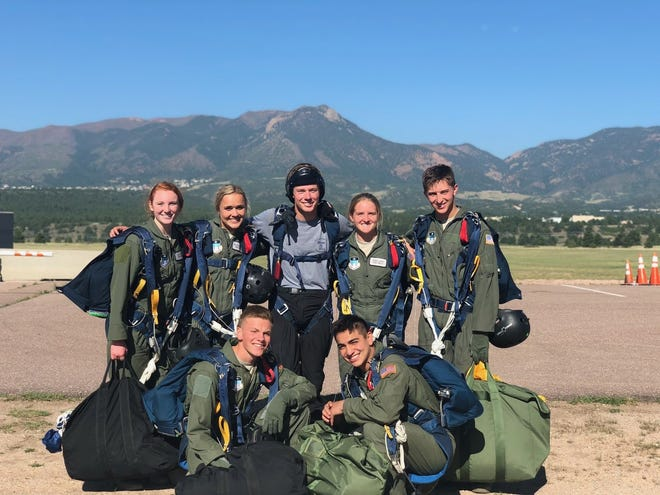 Cadet 1st class Cruz Chavez of Las Cruceswill graduate from the U.S. Air Force Academy on May 26, 2021. He is pictured here at bottom right.