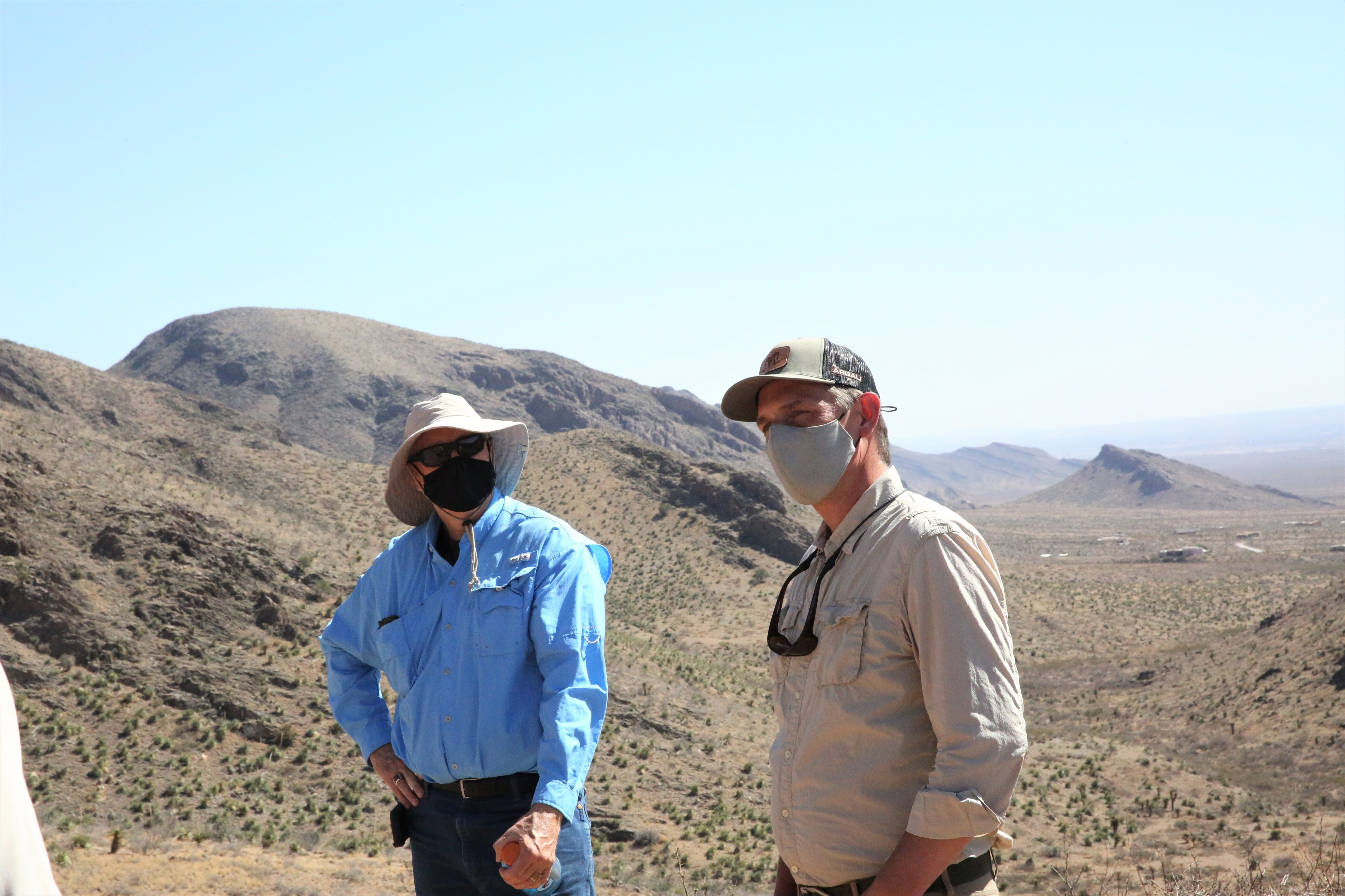 From left, Bureau of Land Management acting state director Steve Wells and U.S. Sen. Martin Heinrich, D-N.M., hike the Achenbach Canyon Trail leading into the Organ Mountains-Desert Peaks National Monument in Las Cruces, N.M. on Wednesday, April 7, 2021.
