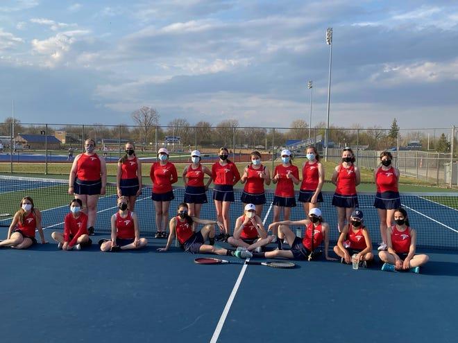 The Livonia Franklin girls tennis team opened the 2021 season with a win against Farmington.