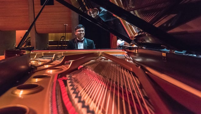 Matthew Gurning competes in the 2016 Steinway Society of Riverside County program.