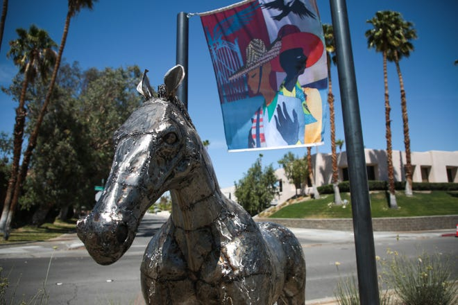 The Art of Taming Horses is a 2021 Desert X art installation located in the road median on Tahquitz Canyon Way in between Sunrise Way and Civic Drive in Palm Springs, Calif.