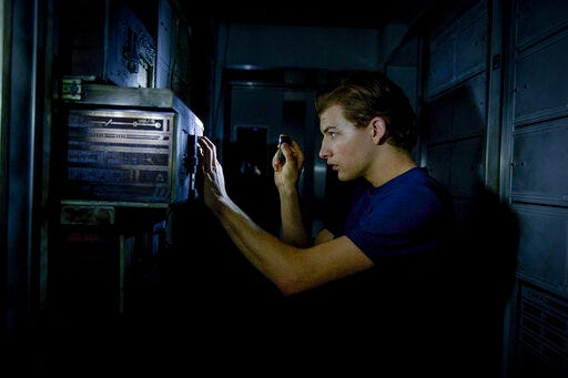 """Tye Sheridan stars in """"Voyagers."""" The movie opens Friday at Queensgate Movies 13 and Hanover Movies 16."""