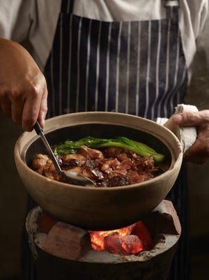 Geylang Claypot Rice earned a Michelin Plate in 2016, serving traditional Southeast Asian rice dishes slowly cooked in traditional claypots with savory ingredients.