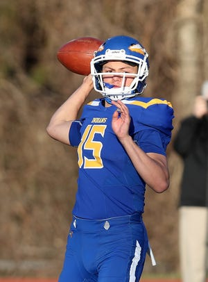 Mahopac defeated Fox Lane 28-6 in football action at Mahopac High School April 7, 2021.
