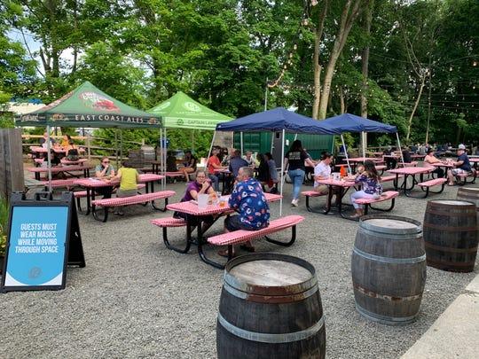 Captain Lawrence's beer garden in Elmsford.