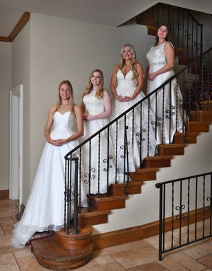 Young ladies presented in the 93rd Junior Forum Debutantes include, from left, Madeline Isabel Maness, Page Meredith Montgomery, Jaci Nicole Nichols and Aubrey Lynn Skinner.