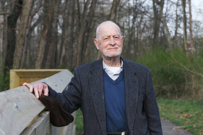 Dr. Carl Schowengerdt recently made the first installment of a donation that will total $1 million for the care and expansion of the Muskingum Valley Park Districts recreational trails.