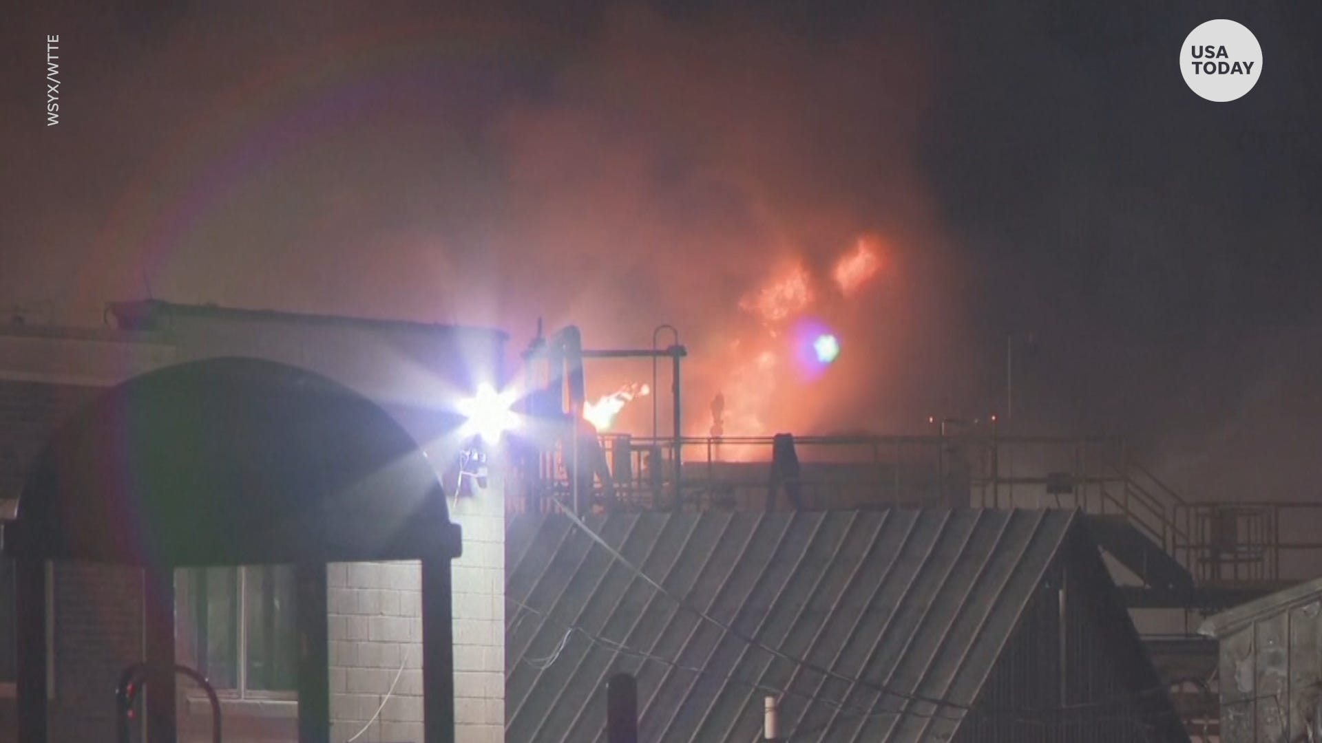 Ohio paint factory explosion, fire leaves 8 injured, door missing