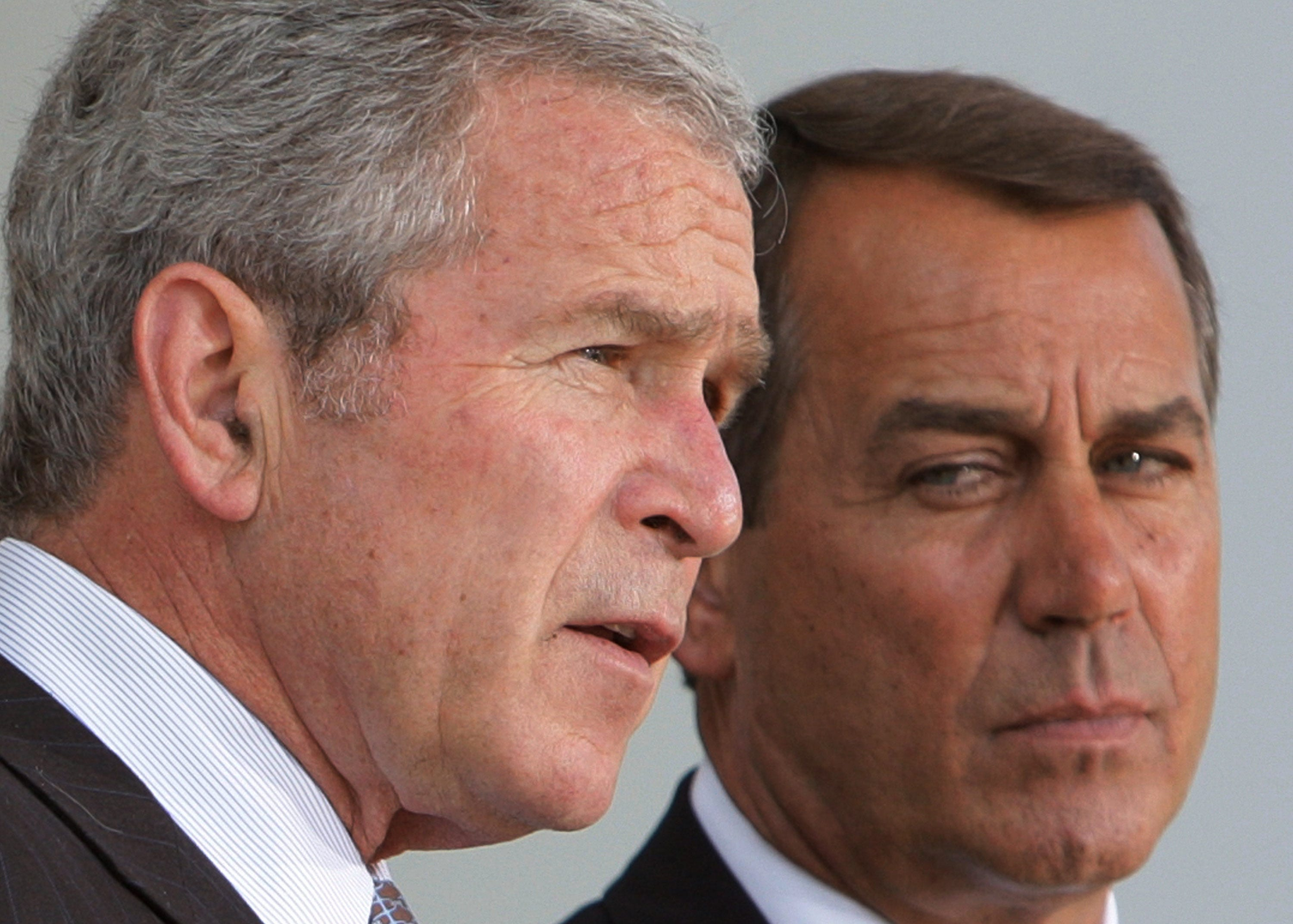 Former President George W. Bush with John Boehner at the White House in 2008.