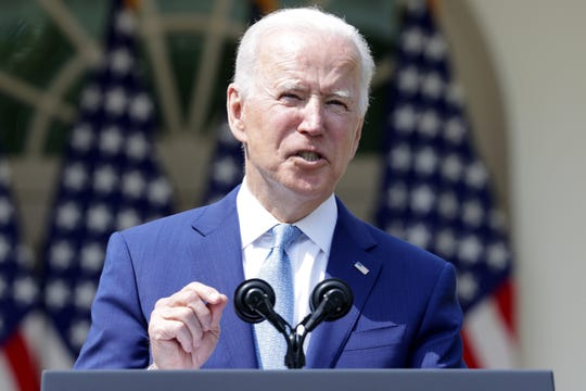 President Joe Biden speaks during an event on gun control in the Rose Garden at the White House April 8, 2021 in Washington, DC. Biden signed executive orders to prevent gun violence and announced his pick of David Chipman to head the Bureau of Alcohol, Tobacco, Firearms and Explosives.