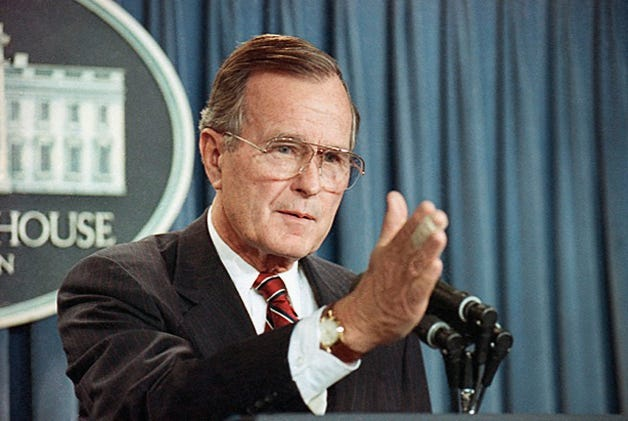 Former President George H.W. Bush at the White House.