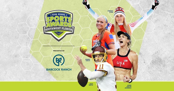 Lindsey Vonn, Alex Smith, Kerri Walsh, and The Bachelor's Matt James and Tyler Cameron, will be among a highly decorated group of presenters and guests for the Southwest Florida High School Sports Awards