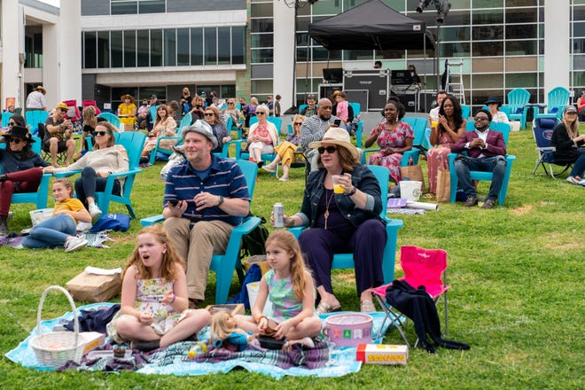 The Long Center has been holding outdoor concerts with social distancing.