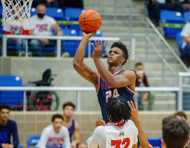 K.J. Adams averaged 25.2 points and 7.5 rebounds as he led Westlake to the Class 6A state championship game.