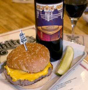 Cavs Cab, the official wine of the Cleveland Cavaliers, is paired with a burger from Whitey's Booze N' Burgers in Richfield.