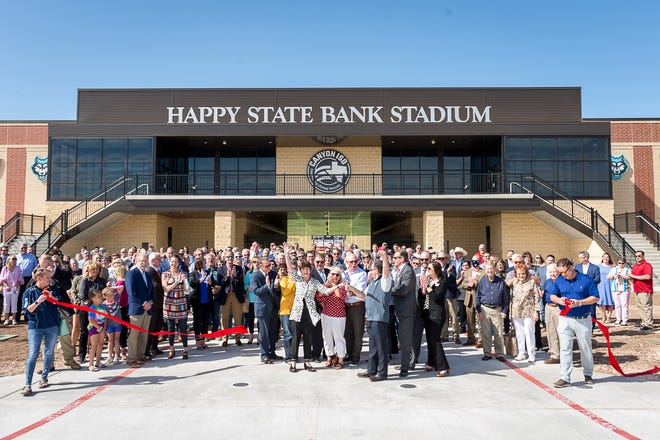 Canyon ISD hosts the ribbon cutting for the newly modeled Happy State Bank Stadium Thursday afternoon