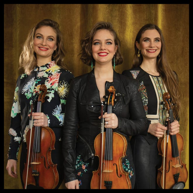 """Fiddle trio """"The Quebe Sisters"""" and country singer-songwriter Cutter Elliott to perform at 7:30 p.m .Friday, April 30 at The Goddard Center."""