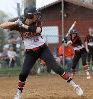 Ashland's Skye Briggs gets ready to take a swing during a game earlier this season.