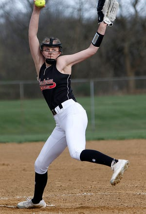 Crestview's Kylie Ringler tossed a three-hit shutout against Ashland Friday at Brookside West.