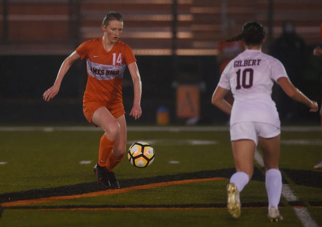 Ames' midfielder Natalie Thoen made the IGCA all-state second team for girls' soccer in Class 3A in 2021
