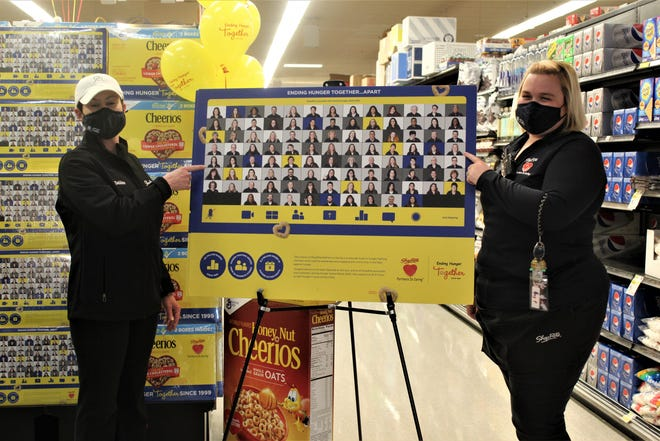 ShopRite of Yardley store associates Amy Praria, of Levittown, and Deborah Freiling, of Trevose, are featured on the Cheerios box, which was unveiled at an in-store ceremony, in recognition of their fundraising efforts to support regional food banks. The annual ShopRite Partners In Caring Cheerios Contest, sponsored in partnership with General Mills, a tradition that recognizes associates for fighting hunger in the communities where ShopRite stores operate.