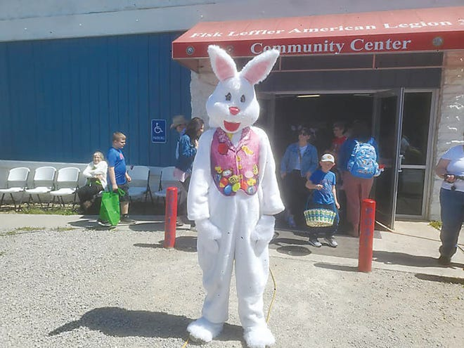 The Easter Bunny made an appearance Easter Egg Hunt on Saturday, April 3, at Fisk Leffler American Legion #334.