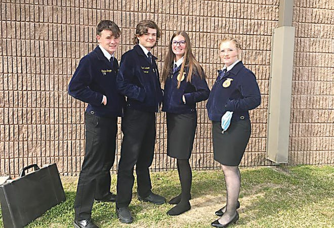 The Advanced Animal Science Team with the Caney Valley FFA program won a district championship.